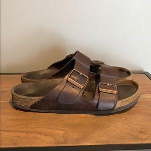 BIRKENSTOCK Two Strap Brown Sandals